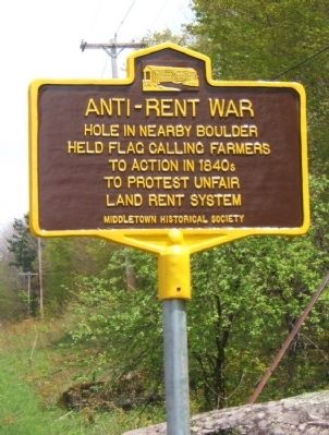 Anti-Rent War Flagpole image. Click for full size.