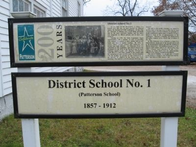 District School No. 1 Marker image. Click for full size.