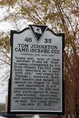 Tom Johnston Camp Face of Marker image. Click for full size.