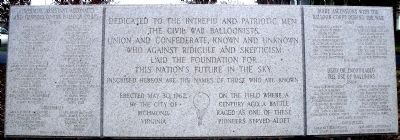 Civil War Balloonists Monument image. Click for full size.