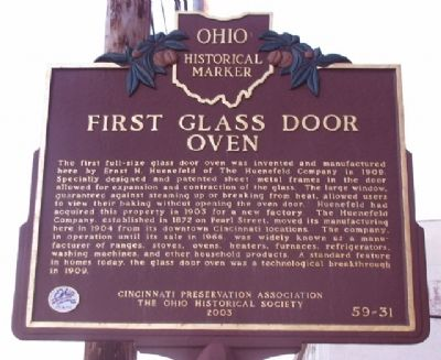 First Glass Door Oven Marker image. Click for full size.