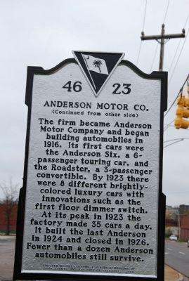 rock hill buggy company anderson motor company historical marker. Black Bedroom Furniture Sets. Home Design Ideas