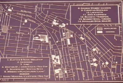 Remaining Brewery Structures Marker Map Detail Photo, Click for full size