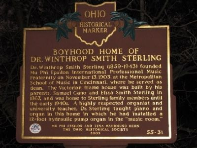 Boyhood Home of Dr. Winthrop Smith Sterling Marker image. Click for full size.