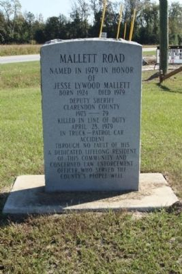 Mallett Road Marker image. Click for full size.