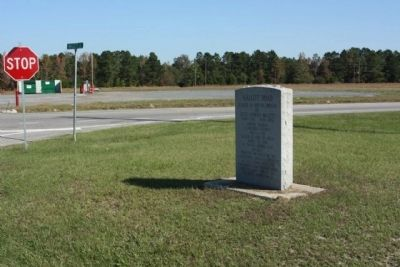 Mallett Road Marker as seen at intersection with Greeleyville Highway (US 521, State Road 261) image. Click for full size.