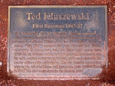 Ted Kluszewski Marker Photo, Click for full size