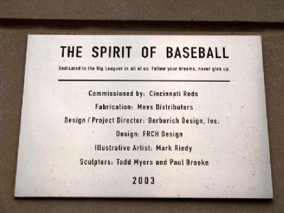 The Spirit of Baseball Marker Photo, Click for full size