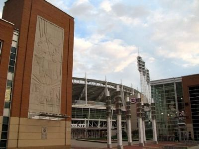Great American Ballpark Entrance Plaza Photo, Click for full size