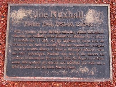 Joe Nuxhall Marker Photo, Click for full size