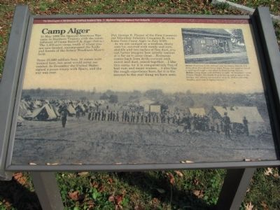 Camp Alger Marker Photo, Click for full size
