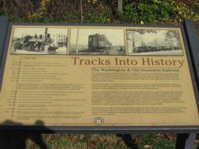 Tracks into History Marker Photo, Click for full size