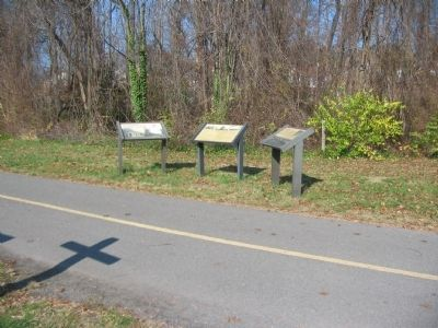 Markers at the Dunn-Lorning Station Site Photo, Click for full size