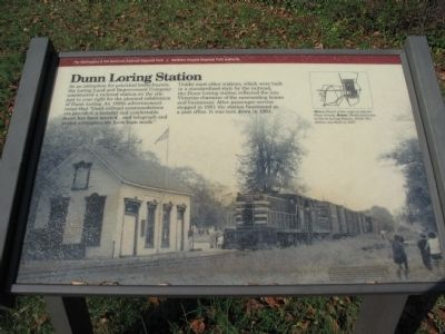Dunn Loring Station Marker Photo, Click for full size