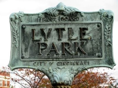 Lytle Park Sign image. Click for full size.