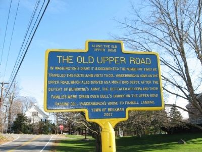 The Old Upper Road Marker Photo, Click for full size