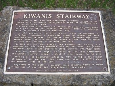 Kiwanis Stairway Marker image. Click for full size.