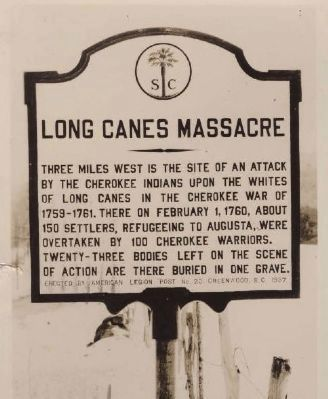Original Long Canes Massacre Marker Photo, Click for full size