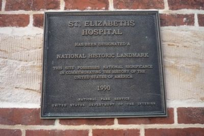 St. Elizabeths Hospital Marker image. Click for full size.