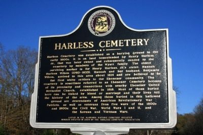 Harless Cemetery Marker image. Click for full size.