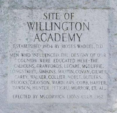 Site of Willington Academy Marker image. Click for full size.