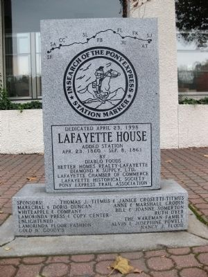 Lafayette House Marker Photo, Click for full size