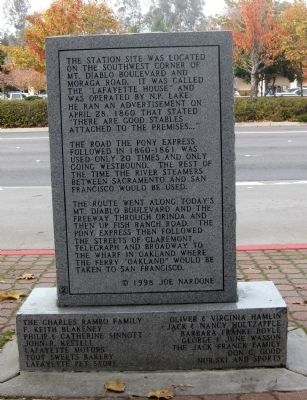Lafayette House Marker (Reverse Side) Photo, Click for full size