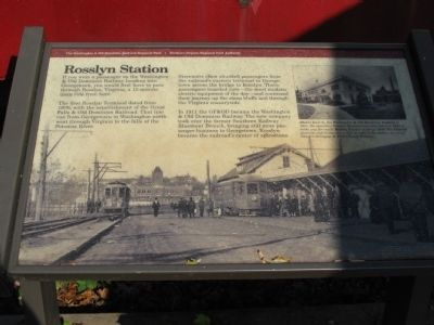 Rosslyn Station Marker Photo, Click for full size