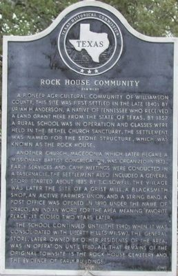 Rock House Community Marker image. Click for full size.
