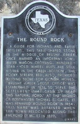 The Round Rock Marker image. Click for full size.