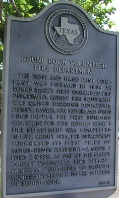 Round Rock Volunteer Fire Department Marker image. Click for full size.