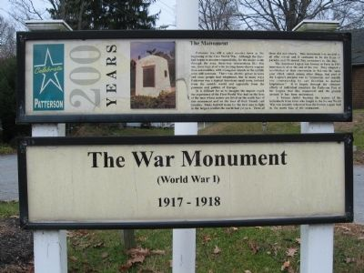 The War Monument Marker image. Click for full size.