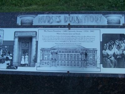 The Nurses Dormitory Marker image. Click for full size.