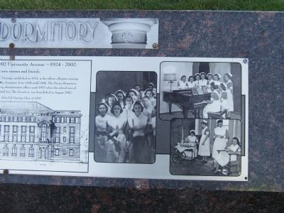 The Nurses Dormitory Marker (detail) image. Click for full size.