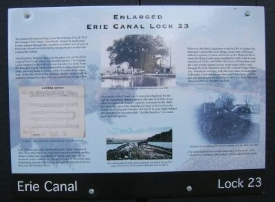 Enlarged Erie Canal Lock 23 Marker - Rotterdam, NY Photo, Click for full size