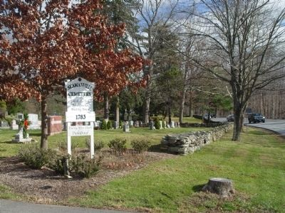 Seamanville Cemetery entrance. image. Click for full size.