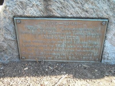 Plaque on west side of Cannon image. Click for full size.