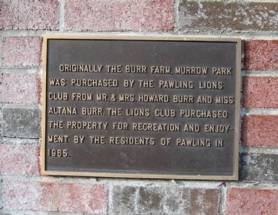 Murrow Park Marker image. Click for full size.