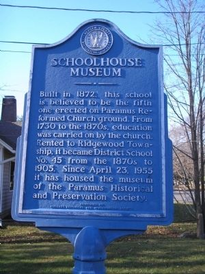 Schoolhouse Museum Marker image. Click for full size.