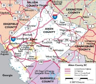 Map of Aiken County Photo, Click for full size