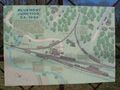 Bluemont Junction, ca. 1934 Marker - Front image. Click for full size.