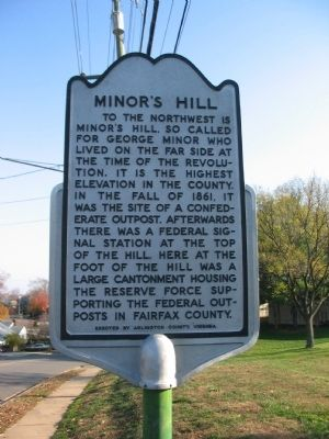 Minor's Hill Marker image. Click for full size.