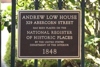 Colonial Dames House , Andrew Low House image. Click for full size.