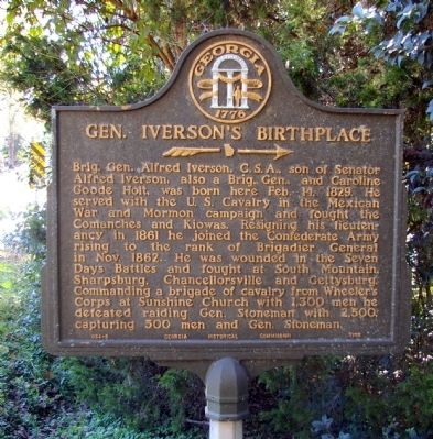 Gen. Iverson's Birthplace Marker image. Click for full size.
