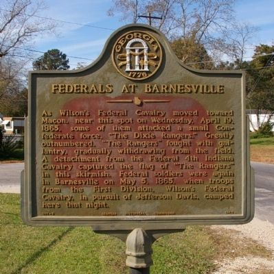 Federals at Barnesville Marker image. Click for full size.