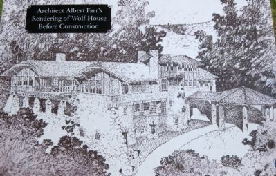 London's Dream House: Architect Albert Farr's Rendering of Wolf House Before Construction image. Click for full size.