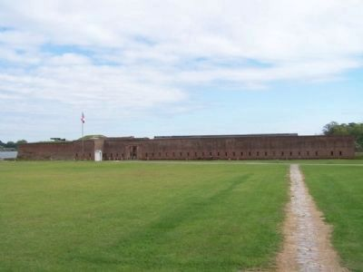 Fort Jackson, west wall image. Click for full size.