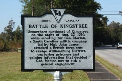 Battle of Kingstree Marker image. Click for full size.