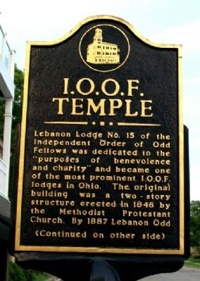 I.O.O.F. Temple Marker (Side A) image. Click for full size.
