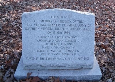 First Virginia Infantry Regiment Marker Photo, Click for full size